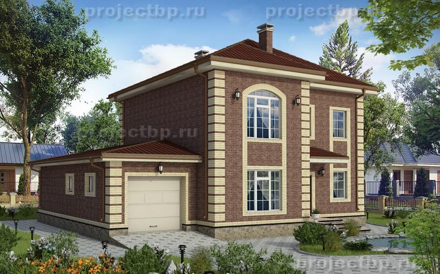 Проект дома в английском стиле с гаражом и террасой 171-B-Z
