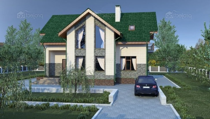 Проект современного дома с мансардой и вторым светом 226-C-Z